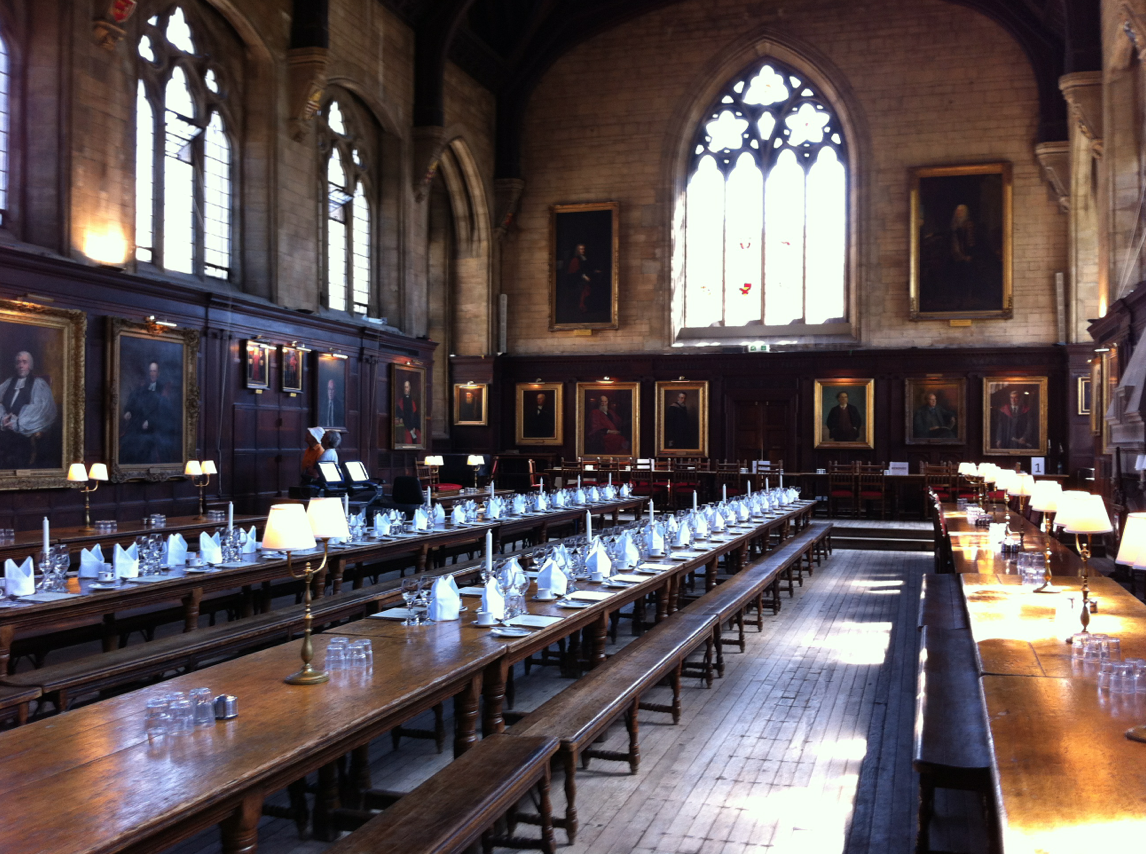 Comedor del colegio de balliol oxford for Comedor harry potter