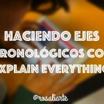 Haciendo ejes cronológicos con Explain Everything